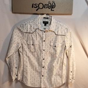 Helix Mens XL Western Button Front Shirt